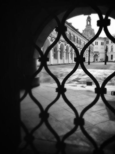 Architecture Window Metal Grate Dresden Outdoor Photography Black And White Germany Travel Destinations