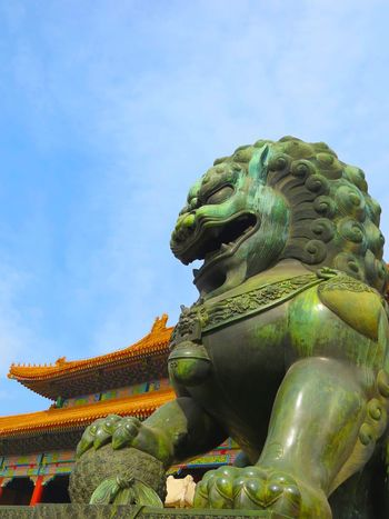 Gatekeeper Taking Photos Lion Asian Culture Chinese Culture Sculpture China Colors Colorful Colour Of Life Art Historic History Historical Building Hello World Aged Beauty Ornament Creative BEIJING北京CHINA中国BEAUTY
