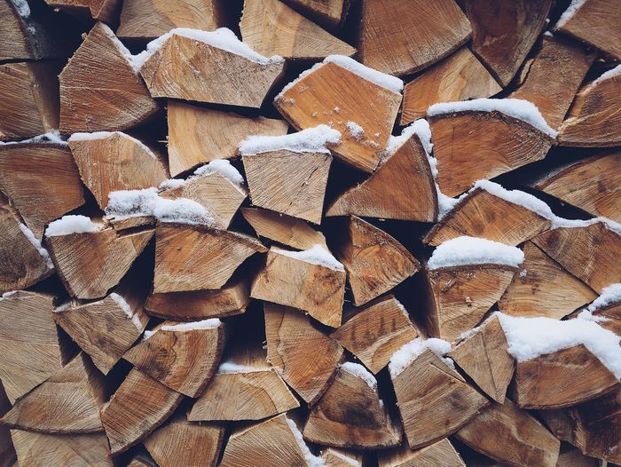 Stack of wood at winter Timber Arranged Energy Source Dry Wood Stack Forestry Industry Textured  Texture Snow Winter Wooden Cut Pile Timber Firewood Forestry Industry Stack Of Wood Woodpile Wood Large Group Of Objects Stack Woodpile
