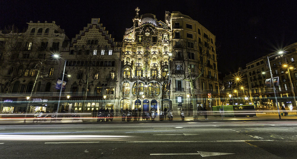 Casa Batillo Architecture Building Exterior Built Structure City Illuminated Motion Night No People Outdoors Road Street
