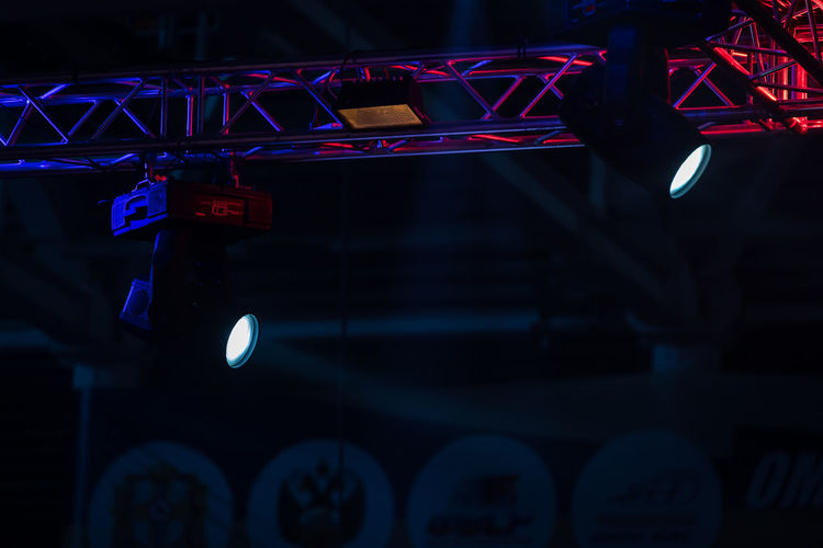 Stage lighting. projectors in the circus.