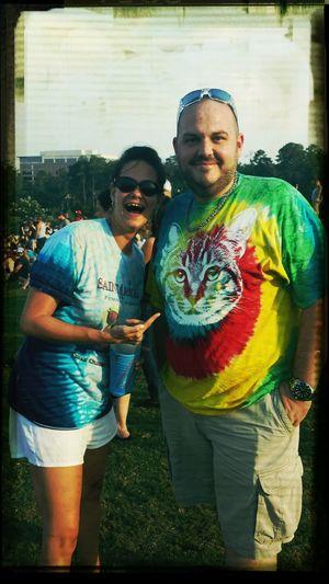 we also met cat shirt man!! Blweenieroast Lovecatshirts Tiedye