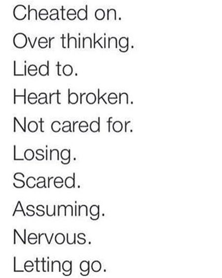 10 worst feelings. I've been through most of them💪