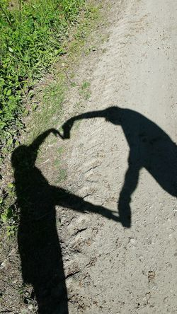 Love❤ my wife Two People Sunlight Shadow Outdoors ...