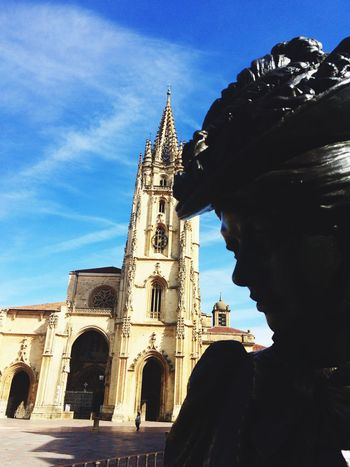 Oviedo,Spain Religion Spirituality Sky Architecture Built Structure Building Exterior History Tower Day Architecture Sculpture Clear Sky