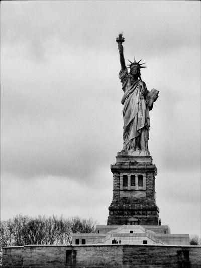 Statue Of Liberty New York Blackandwhite