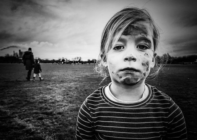 EyeEm Selects Front View People Cloud - Sky Sky Child Portrait Children Only Childhood One Person Day Outdoors This Girl Can