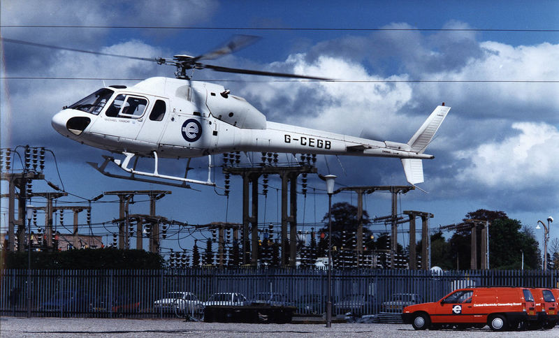 Fariday Helicopter Line Inspection Michael Squirrel Sub Station Travel Twin Engine