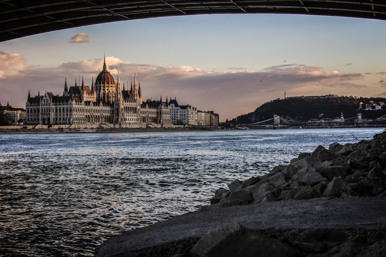 Scenic view of palace in budapest