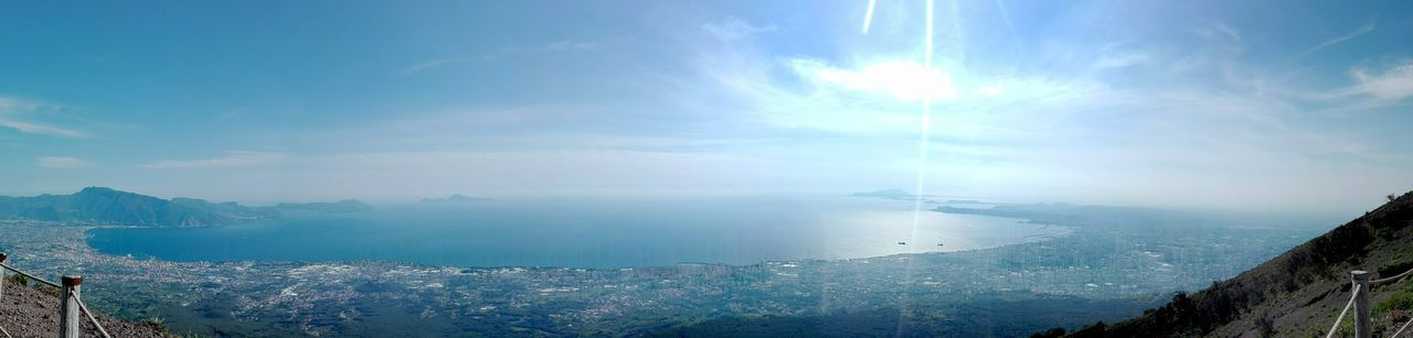 Golfo di Napoli Vesuvio Sea Cloud - Sky Sky Outdoors Beach No People Sun Blue Water Day Nature Scenics Beauty In Nature Landscape Horizon Over Water City Nautical Vessel Cityscape No Filter, No Edit, Just Photography No Edit/no Filter Italy 🇮🇹 Huawei P8 Lite My Own Photography Panoramic Views Lost In The Landscape Perspectives On Nature