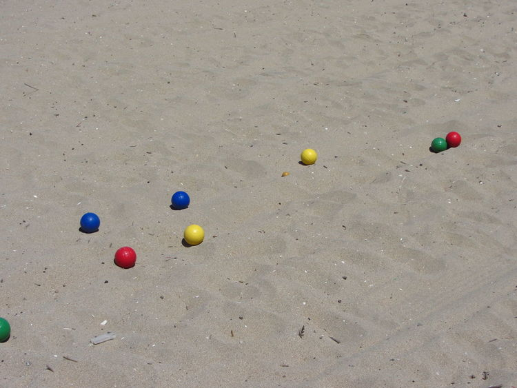 Sand Games Ball Colored Balls Day Full Length Outdoors Playing Sand Sand Games Sport Summer
