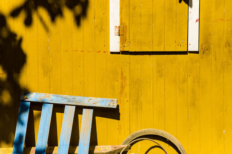 Close-up of yellow wood