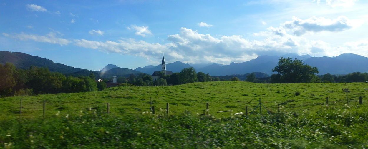Taken Through A Moving Bus Window Fromfussen, Germany To Salzburg,austria