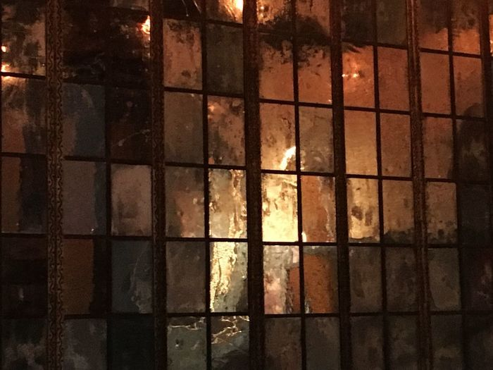 Glowing Silver  Gold Window Wet Night Water No People Full Frame Illuminated Built Structure Glass - Material Architecture Pattern Backgrounds Heat - Temperature Glowing Reflection