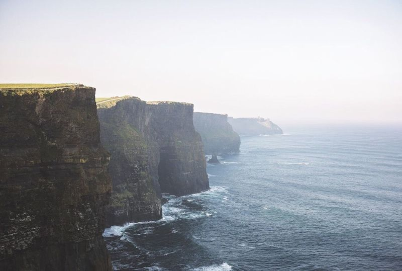 The Cliffs of Moher Rock - Object Sea Cliff Beauty In Nature Outdoors No People Nature Scenics Horizon Over Water Sky Water Day Sunset Travel Destinations EyeEmNewHere The Great Outdoors - 2017 EyeEm Awards BYOPaper! Byopaper