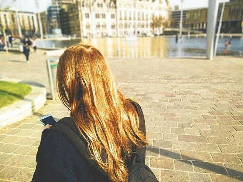 Outdoors Urban Longhair Ginger Redhead Boyfriend Bokeh 35mm 35mmfilm Filmisnotdead Film Filmphotography Ishootfilm