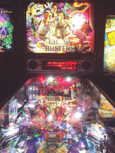 Neon Game Ghostbusters Pinball Illuminated Multi Colored