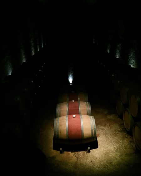 Alcohol Architecture Barrel Cellar Cylinder Dark Domestic Room Drink Food And Drink Illuminated Indoors  Lighting Equipment No People Refreshment Wine Wine Cask Wine Cellar Winemaking Winery Wood - Material