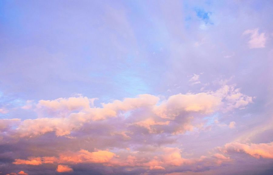 Cloud - Sky Blue Nature Dramatic Sky Sky Outdoors Heaven No People Backgrounds Beauty In Nature Abstract Sunset Pastel Colored Beauty Day Multi Colored Sky Only Scenics Close-up