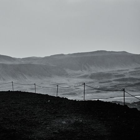Topline Iceland Landscape Travel Photography Grábrók Crater Blackandwhite Creative Light And Shadow