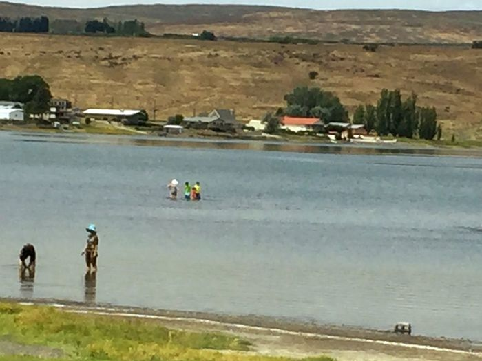 Soap Lake, WA Healing Waters People Swimming enjoying summer No Worries Relaxation People Together
