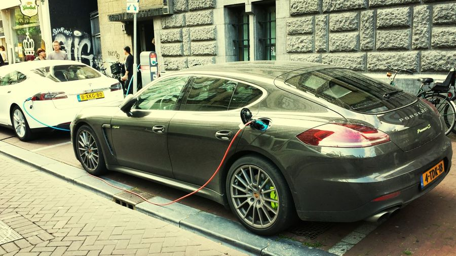 Electric is the future Electric Porsche Panamera Amsterdam
