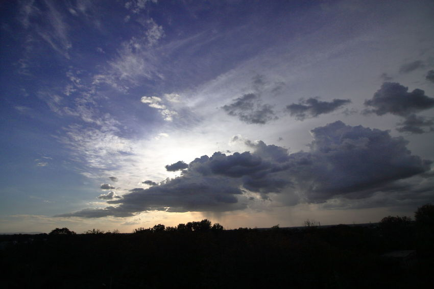 cloud formation Astronomy Tree Sunset Sky Cloud - Sky Landscape Sky Only Heaven Milky Way Dramatic Sky Cumulus Cloud