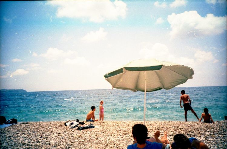 Analog Beach Day Horizon Over Water Mediterranean  Relaxation Sea Shore Summer The Great Outdoors - 2016 EyeEm Awards Tranquil Scene Turkey Vacation Water