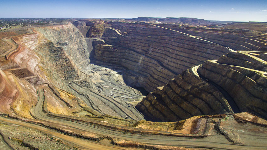 The biggest open pit gold mine in Australia Aerial View Aerialview Boulder DJI Phantom 3 Gold Mine Goldmining Landscape LargestintheWorld Mining Heritage Mining Town No People Non-urban Scene Outdoors Super Pit