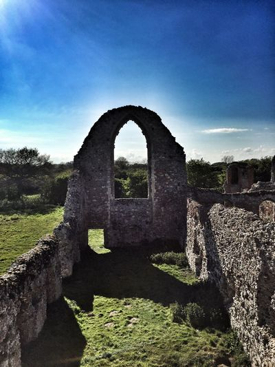 The ruins of Leiston Abbey in Suffolk County Old Ruin History Built Structure The Past Architecture Old Day Arch Ancient Stone Material Ancient Civilization Sunlight Travel Destinations No People Sky Damaged Outdoors Castle Bad Condition Building Exterior