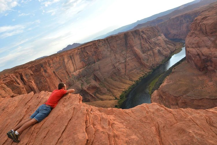 Original take Amazing Nature Amazing View Arizona AriZona♡ Enyoing The Moment Horseshoe Bend My Favorite Place Page Page Arizona Page, AZ Quiet Moments United States People And Places Landscape Brown Finding New Frontiers Travel Destinations USAtrip USA Photos USA One Person