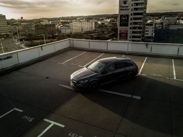 Cars Mercedes AMG City Roof Rooftop View