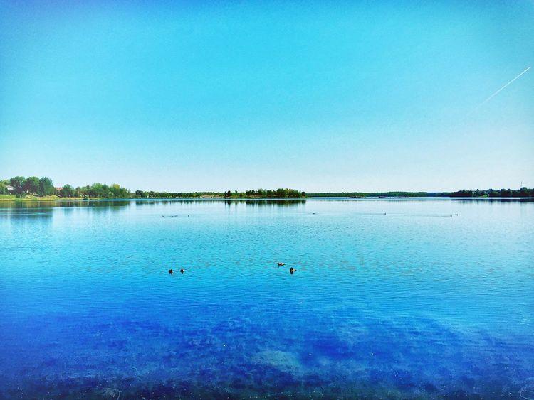 An ocean of blue. February Canada Blue Water