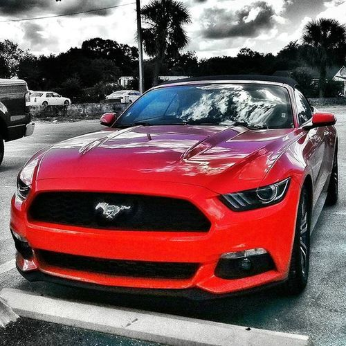 Ford Mustang Color Splash Car Cars Hello World Amazing Cars Red Cars Splash Enjoying Life Streetphotography