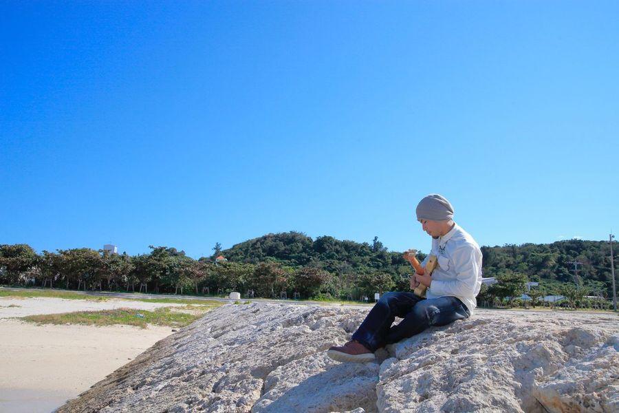 アー写 Artist Photo 沖縄 Ocean Artist Blue Sky Beach ビーチ 青空 海 Okinawa 浜比嘉島
