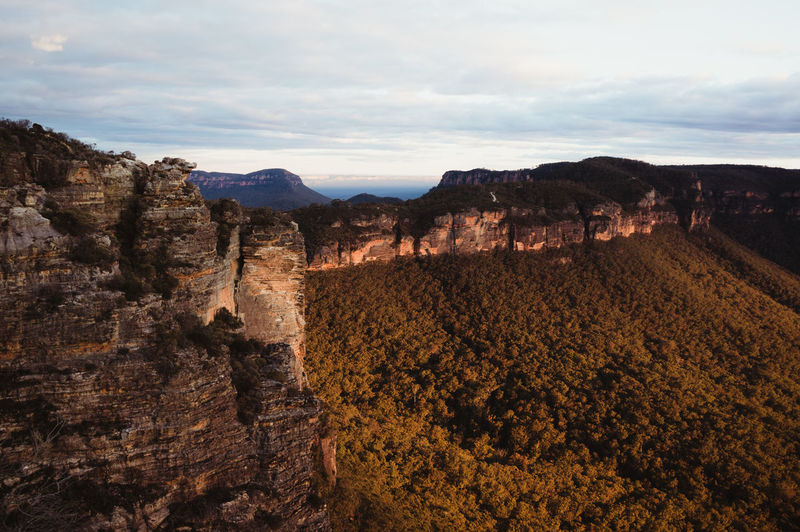 Scenic View Of Blue Mountains National Park Against Sky