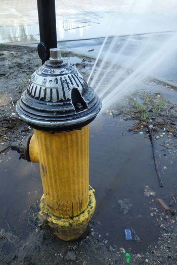 A bit of water to cool you off on a hot day. Firehydrant CoolingOff Spray Water Photography In Motion