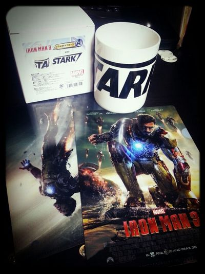 got to see Iron Man 3!! Got a Stark mug to help me be a genius( ロ_ロ)ゞ Japan At The Movies Iron Man 3