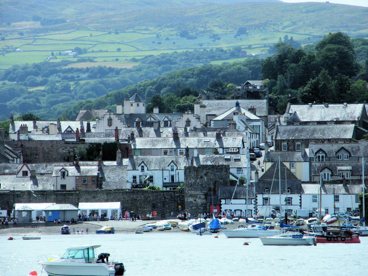 Boats Coastal Town Conway Conway Valley Harbour North Wales SAFE HAVEN Sea Front Sea Side Sea Side Town