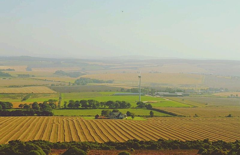 Hillwalking Countryside View From The Top Mormond Hill Farms Landscape_Collection
