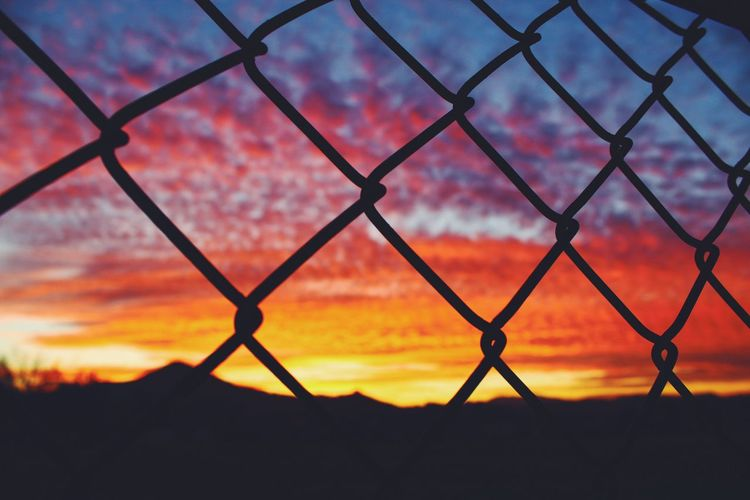 Pattern Pieces Sunset California Fence