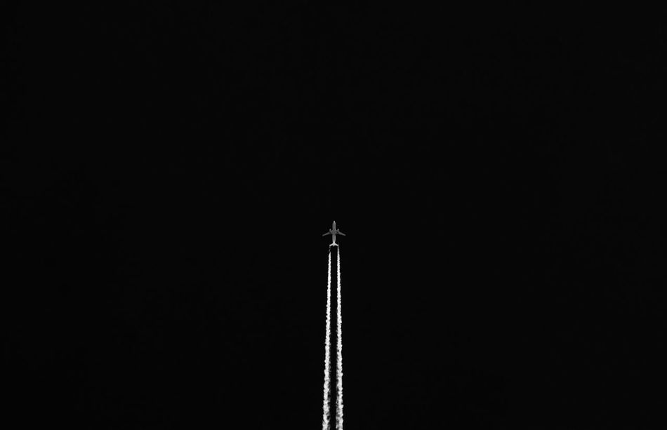 Copy Space Black Background No People Outdoors Day Sky Politics And Government Flying Aero Aerospace Industry Aeroplane Aeroplane In The Sky Kerber Blackandwhite Black And White Blackandwhite Photography Skyporn Travel Traveling