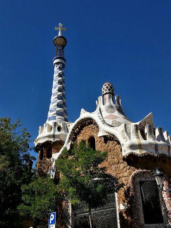Barcelona Beautifulday Barcelona Barcelona, Spain Blue Sky Bluesky Park Guell Spain2015 My Travel In Spain From Spain With Love