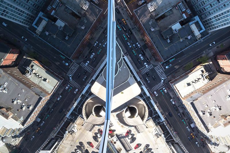 lol almost dropped my camera Double Reflection Looking Down Outdoors Rooftop Roof City Birds Eye View Cityscape Toronto