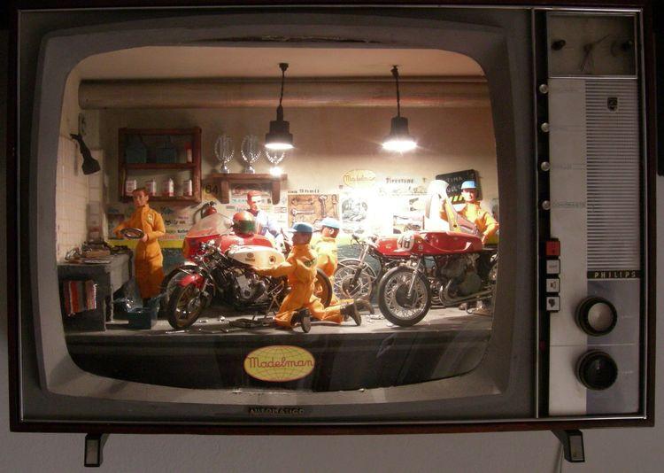 Boxes Dioramas Madelman Motorbike Television Art Toy Toys Toys Art