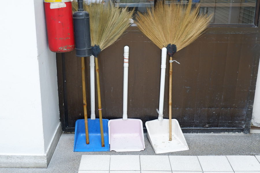 Clean up the shelter. Cleaning Broom Equipment Swab