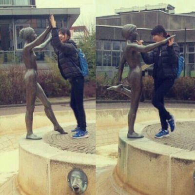 Weird Hahahhahah Korean Funny statuewaterbodyleggemanyschwalbachfacefailasianstrangefunhappywithafriend