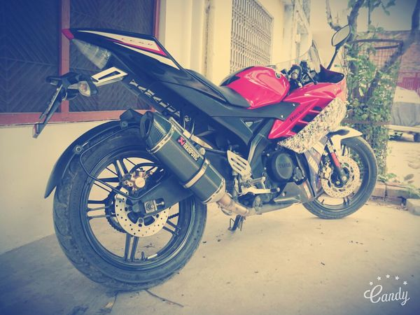 My Mini Yamaha R6 No People Parked Mode Of Transport Transportation Land Vehicle Randam Taking Photos Editing Photography Random Shots Check This Out Travel Photography First Eyeem Photo My Bike My Yamaha Yamaha R15 My Sports Bike