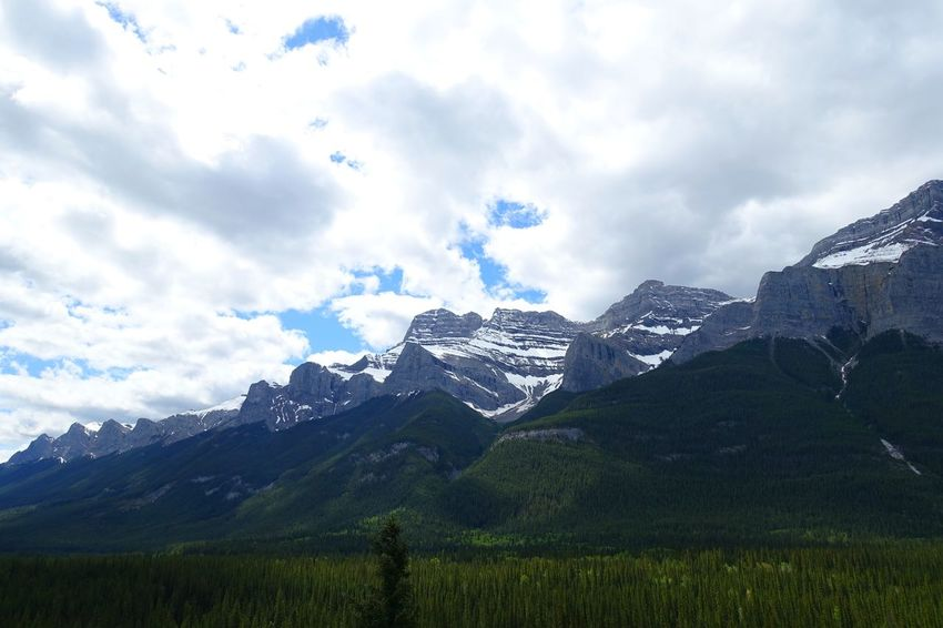 Banff  Alberta Canada Road Tripping Abventure Exploring Travel Wild Landscape Mountains Sky Nature Land