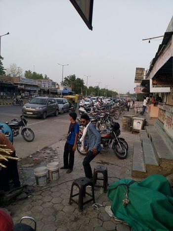 P B M Road City Crowd Motorcycle Bicycle Market Men Land Vehicle Sky EyeEmNewHere The Modern Professional